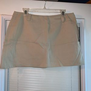 NWT vintage DKNY chino mini skirt 14